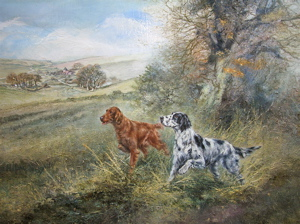 English & Irish Setters, Henry Wilkinson, Sporting Dogs, 20x26, Westport River Gallery, Connecticut