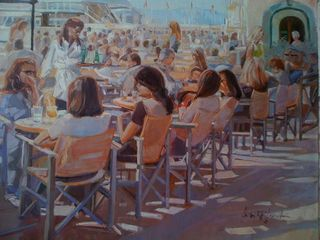Henri Lepetit, Saint Tropez cafe, Westport River Gallery