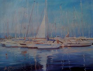 Henri Lepetit, South of France boats, Westport River Gallery