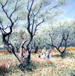 PICT0009 Champs aux coquelicots et aux oliviers (Provence). 40x40cm..jpegPICT0009 Champs aux coquelicots et aux oliviers(Provence). 40x40cm.