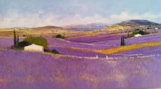 Dominique Dorie, Westport River Gallery, Lavender hills and fields