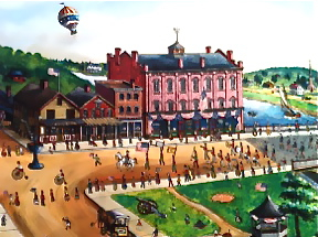 Westport Main Street, Westport River Gallery, connecticut, milton bond