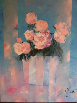 Mo Gart, Carnations, 24x20, Westport River Gallery