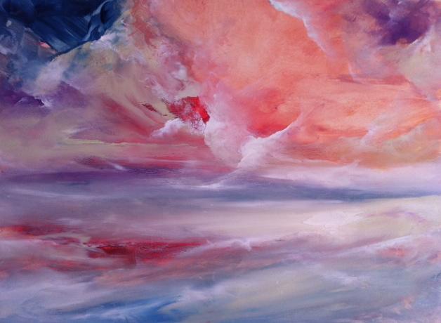Lex,9x12, Calm Clouds, Westport River Gallery