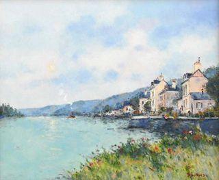 Jean Pierre Dubord, Westport River Gallery, les fleurs au bord de Seine, 21x26