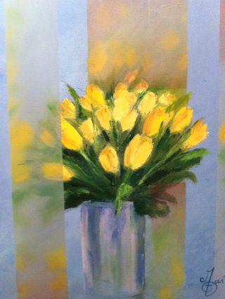 Mo Gart, Tulips, 24x20, Westport River Gallery