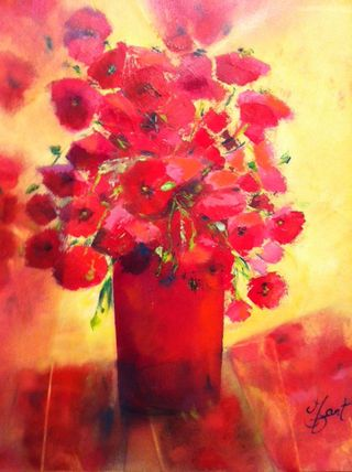 Mo Gart, Poppies, 24x20, Westport River Gallery