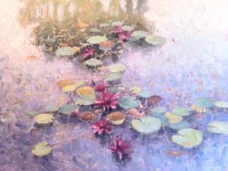 Paprocki, Westport River Gallery, 36x38, Water Lillies