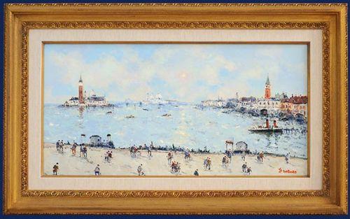 Jean Pierre Dubord, Westport River Gallery, Soleil sur Venice, 16x32