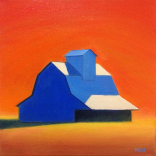 Low res Mona Barn, 12x12, Wesrport River Gallery