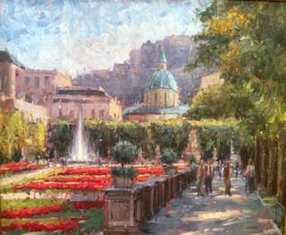 Paprocki, Westport River Gallery, Italian Gardens, 20x24
