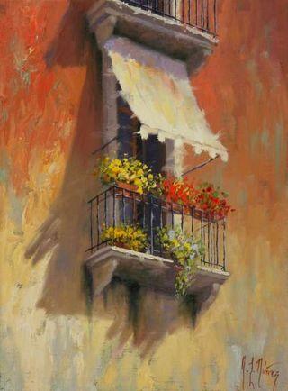 Nunez, Balcony in Venice I-640