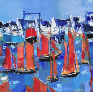 Old sailboats 16x16
