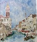 Lelia Pissarro, Venice Watercolor, Westport River Gallery