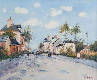 Dubord, 21x26, La Route dans la campagne Normande