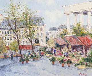 Dubord, 20x24, Marchandes de fleurs - Place de la Madeline
