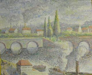 H Claude Pissarro, French Bridge