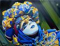 Blue Mask, Olaf, Westport River Gallery
