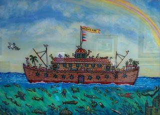 Milton Bond Noah's Ark, 20x24. Westport River Gallery