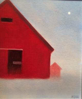 Mona, 11x14, iconic farmscape