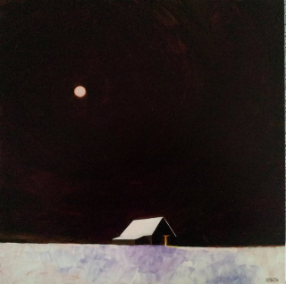 3 Smith, westport River Art Gallery, 20x20, moon