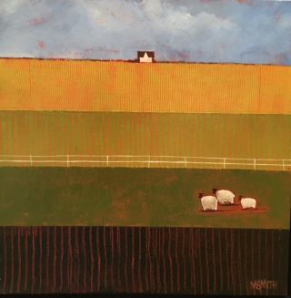 Sheep in a Field, Westport River Gallery, M. Smith,