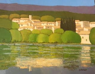 Estivalet, Westport River Gallery, 13x16, Au bord de l'eau