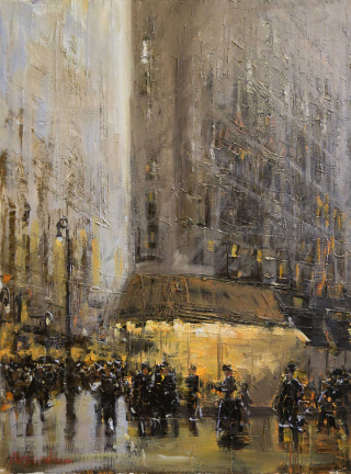 New York Sunset_20x20_Alexandrina_The Westport River Gallery