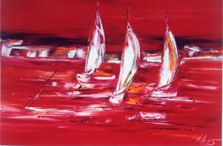 Symphonie en rouge 90x130