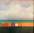 Smith  Beach Houses  12x12  westport River Gallery