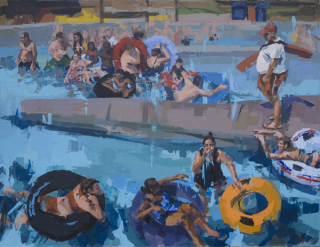 Bye, Westport River Gallery, waterworld, 40x52