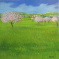 Dorie_Pink Rose Meadow_12x12_Westport River Gallery