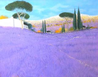 Dominique Dorie  westport river gallery  lavender valley