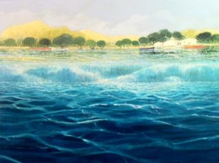 Dominique Dorie  Waterfall  Westport River Gallery  Connecticut
