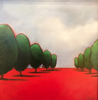 Smith  Tree line  12x12  westport River Gallery