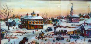 Milton Bond Bethel Depot, 16x28, Westport River Gallery