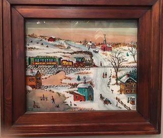 Milton, Railroad, 15x16, Westport River Gallery