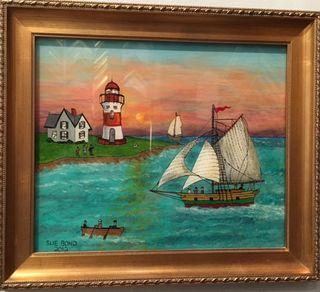 Sue Bond, boatsWestport River Gallery