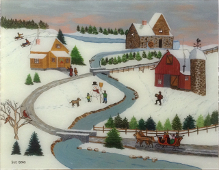 Sue Bond, Skaters, Westport River Galery