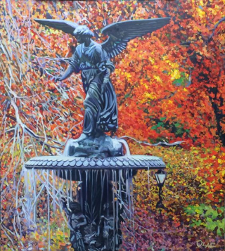 Olaf, Central Park Angel, 40x36, Olaf, westport river gallery
