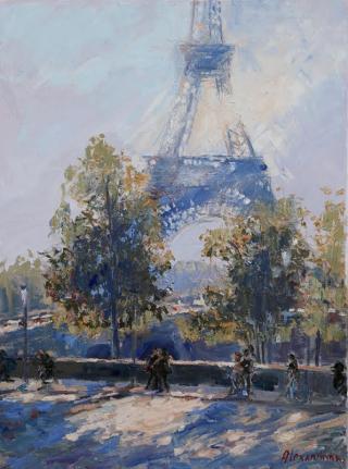 Alexandrina  Sunny Eiffel  24x18  Westport River Gallery