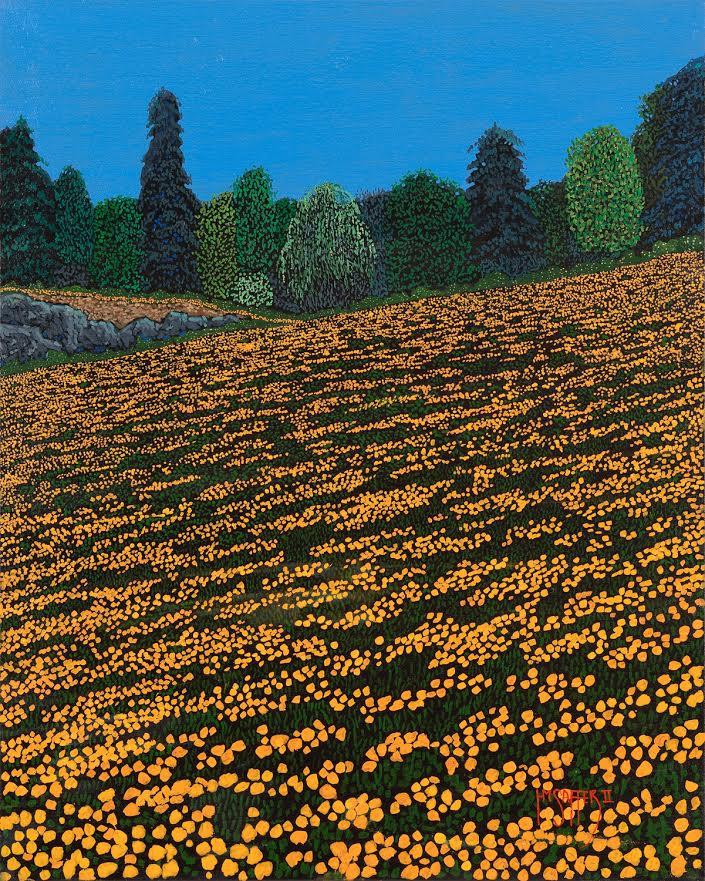 Orange poppies 24x30