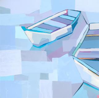 Alma  Boats in Blue  24x24