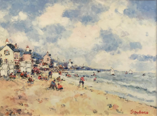 Dubord Normandy  beach westport river gallery